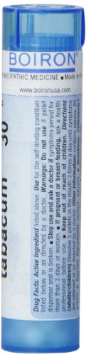 Boiron Homeopathic Medicine Tabacum, 30C Pellets, 80 Count Tube