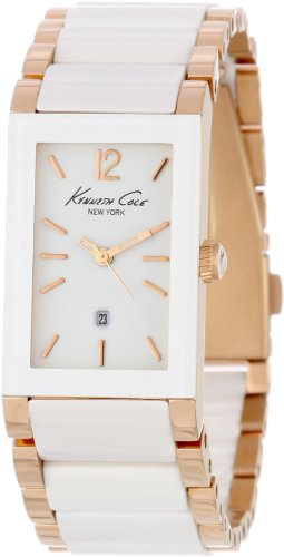 Kenneth Cole Ladies Analogue Watch KC4741 with Ceramic and Rose Gold Bracelet