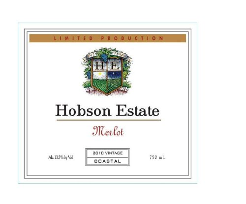 2010 Hobson Estate Merlot, California 750 Ml