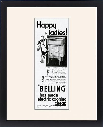 Framed Print Of Advert For Electric Cookers By Belling 1931
