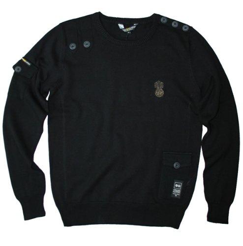 Crosshatch men's skutter knitwear pullover jumper, navy marl small