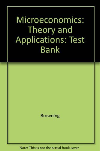 Microeconomics: Theory and Applications: Test Bank