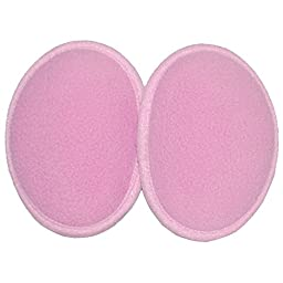 Fleece Ear Mitts Bandless Ear Muffs 100g ThinsulateTM Insulation & DuPontTM Teflon® (Various Colors / 2 Sizes) (Small, Pink)