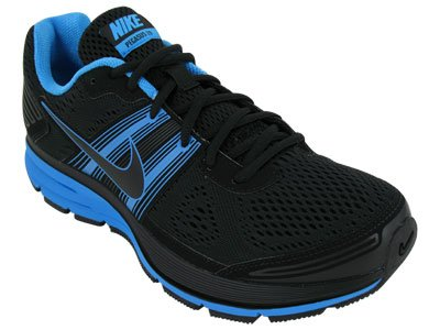 Nike Men s NIKE AIR PEGASUS+ 29 RUNNING SHOES 7.5 (BLACK BLACK BLUE GLOW) a974ee07f