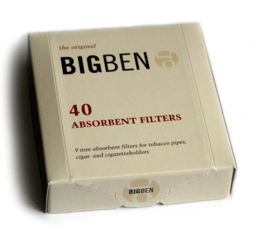 BIG BEN pipe FILTERS 9mm - box of 40 filters