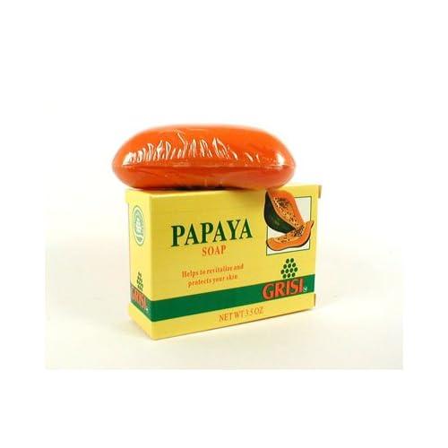 Amazon.com : Grisi Natural Papaya Bar Soap with Lanolin - 3.5 Oz ...