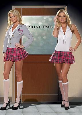 Charm+School+Dropout+Sexy+Women%27s+Costume+Adult+Halloween+Outfit+-+Size+S%2C+Dress+Size+2-6