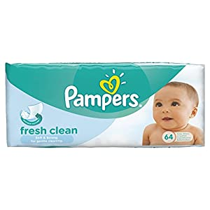 Pampers Fresh Clean Baby Wipes - Pack of 12(768 Wipes)