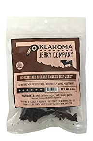 Old Fashioned Style Gluten Free Hickory Beef Jerky – No Frills Tough and Dry Style Beef Jerky – All…