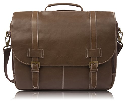 Rockdale Classic Laptop Messenger Bag, Brown - Briefcase Designed to Fit Laptops 13