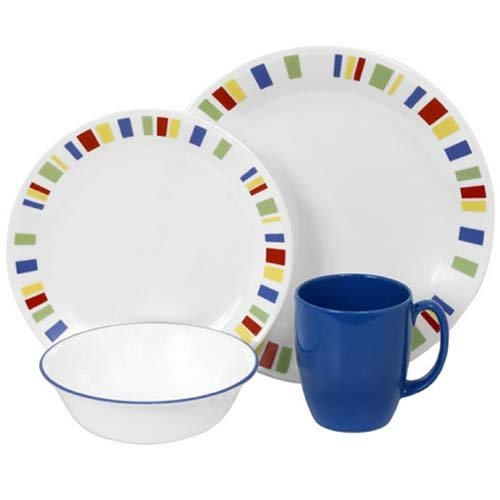 Corelle Livingware 16-Piece Dinnerware Set, Memphis, Service for 4 (Corelle Dinnerware Memphis compare prices)