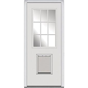 National Door Company Z000385l Fiberglass Smooth Prehung Left Hand In Swing Entry Door Glass