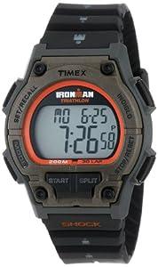Timex Men's T5K341 Ironman Classic Shock 30-Lap Orange/Black Resin Strap Watch