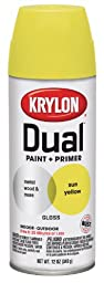Krylon 8819 \'Dual\' Gloss Sun Yellow Paint and Primer - 12 oz. Aerosol