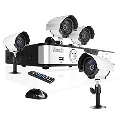 Zmodo Surveillance System with 4 Weatherproof IR Cameras PKD-DK0863-NHD (Hard Drive Not Included)
