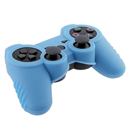eForCity Silicone Skin Case for Sony PS3 Controller, Blue