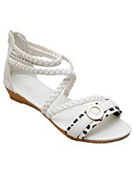 GADGETS Women's White Mesh Formals & Lace-Up Flats Shoes - B00Y0LDQ1U
