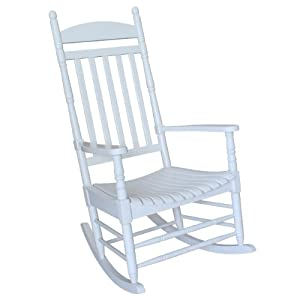 Rocker solid wood white patio rocking chairs patio lawn amp garden