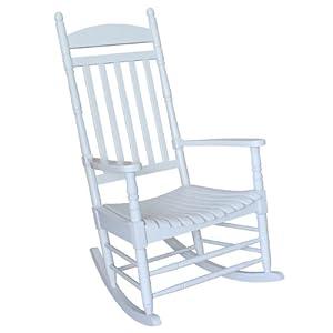 international concepts r 93015 porch rocker solid wood white patio rocking. Black Bedroom Furniture Sets. Home Design Ideas