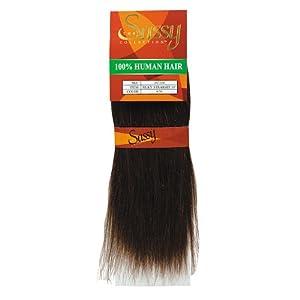 Amazon.com : Sassy Silky Straight Human Hair 10 Inch Light ...