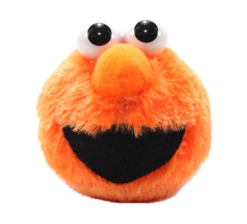 Furyu Official Sesame Street Elmo Head Plush Strap - 3303 - Orange - 1