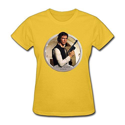Jiaso Women's The Star Wars Han Solo Tshirt XX-Large Yellow