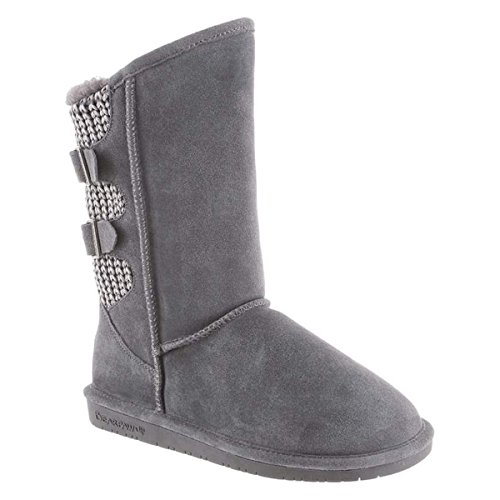 Bearpaw Women's Boshie Charcoal Ankle-High Suede Boot - 7M