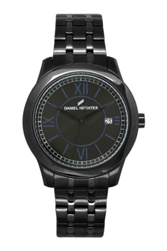 Daniel Hechter - 004/DHH 3AM Men's Watch Analogue Quartz Black Dial Steel Strap Black Plated