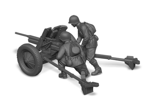 Zvezda Models 1/72 Soviet 45mm Anti-Tank Gun With Crew