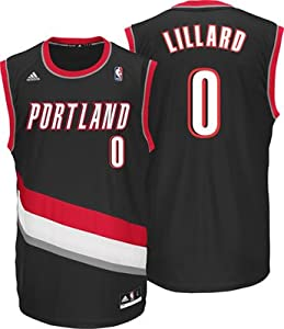 Damian Lillard Portland Trail Bllazers Black NBA Kids Revolution 30 Replica Jersey