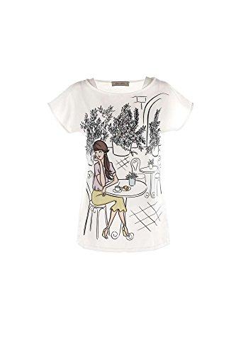 T-shirt Donna Verysimple VP16-173ST Bianco Primavera/Estate Bianco 44