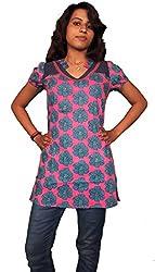 Miraaya Women's Tunic (M2571B_88400_Pink_Small)