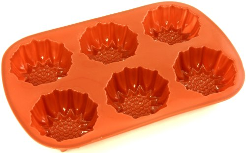 World Cuisine Non-Stick Silicone Mold, Brioche, Sunflower