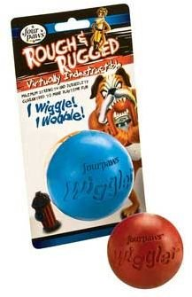 Rough And Rugged Wiggler Ball Dog Toy, Large Assorted