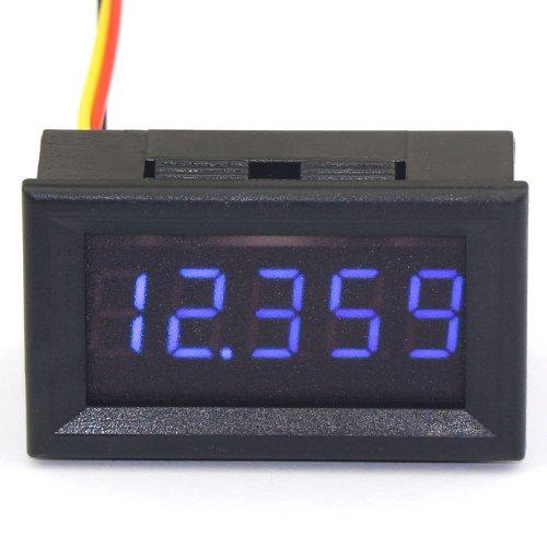 DROK 0.365 Digits DC 0-33.000V 12V LED Digital Display Voltmeter 3 Wires Voltage Tester Monitor High Accuracy Volt Testing Panel Gauge