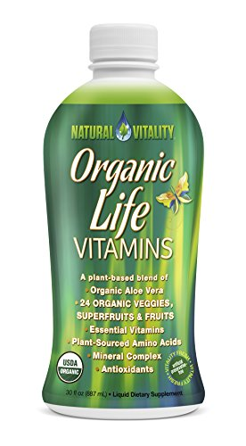 Natural Vitality Organic Life Vitamins Liquid, 30 fl oz (Liquid Organic Vitamins compare prices)