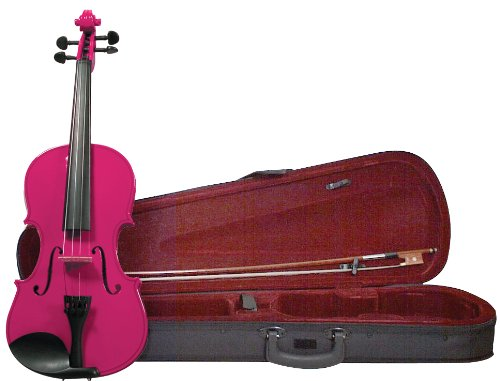 Merano Mv200Pnk 4/4 Full Size Color Violin With Case - Gloss Pink Finish