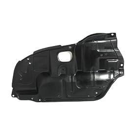CarPartsDepot, Right (Passenger Side) Under Engine Cover Lower Splash Shield Plastic, 429-44100-02 TO1228106 5144106030