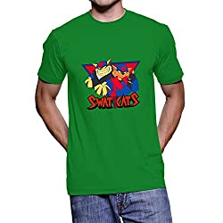 Faindeaz Men's Cotton Swat Kats T Shirt_Green_L