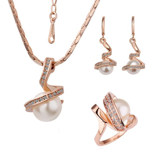 18k Rose Gold Plated Swarovski Elements Crystal