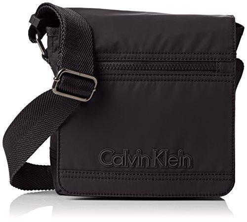 Calvin Klein - METRO REPORTER WITH FLAP, Borse da uomo, black, OS