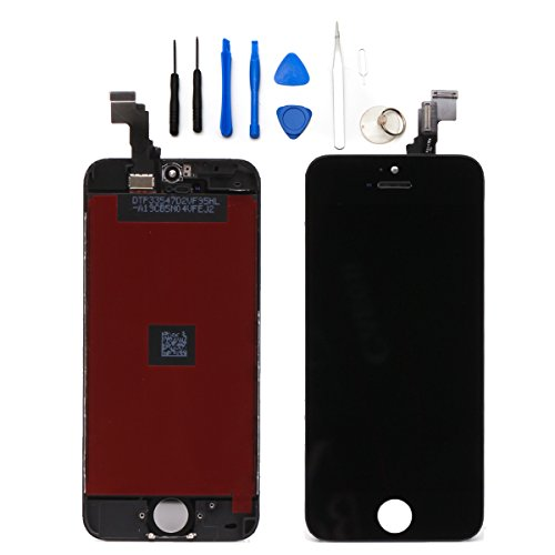 Gbb Front Touch Screen Digitizer Lcd Display Repair Assembly For Iphone 5C(Black)