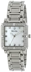 Bulova Women's 96R107 Stainless Steel and Mother-of-Pearl Diamond-Accented Watch