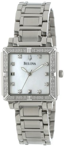 Bulova Women's 96R107 Diamond Accented Mother of Pearl Dial Watch