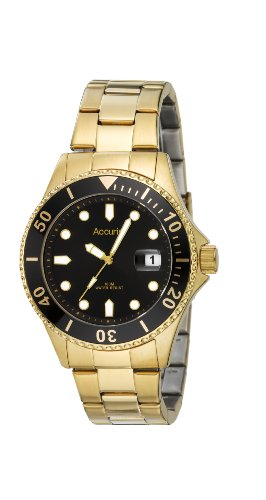 Accurist Mb821 Gents Gold Tone Analogue Bracelet Watch