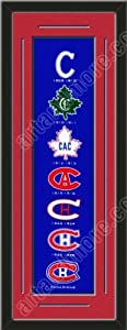 Heritage Banner Of Montreal Canadiens With Team Color Double Matting-Framed Awesome... by Art and More, Davenport, IA