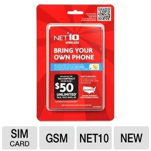 Net10 プリペイド携帯電話用SIMカードセット ■並行輸入品■