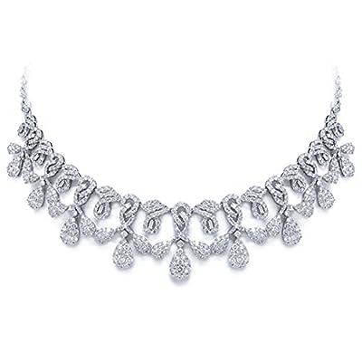 18.07ct 18k White Gold Diamond Necklace