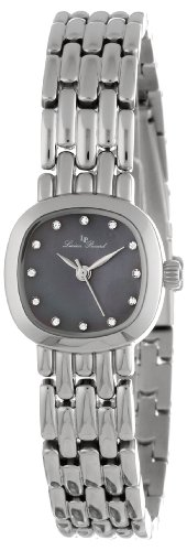 Lucien Piccard Women's 12012-01MOP Teide Black Mother-Of-Pearl Dial Crystal Accented Stainless Steel Watch