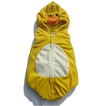 Hotshopping Small Yellow Duck Design Flannel Infant Baby Clothes Costume